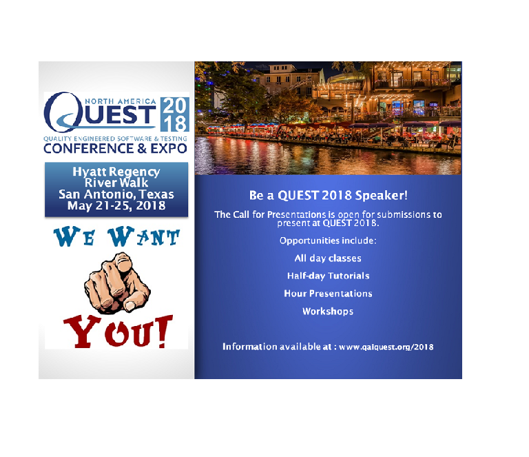 QAI QUEST 2019 | Quality Engineered Software and Testing